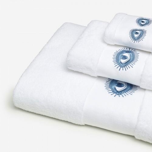 Conjunto Bordado Olhos - Branco