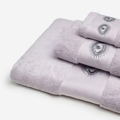 Conjunto Bordado Olhos - Cinza